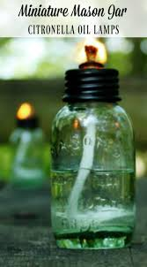 how to make miniature mason jar citronella oil lamps for camping picnics