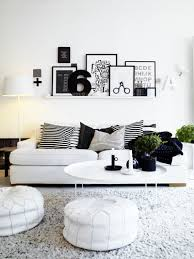 For Black And White Living Room Interior Design Color Schemes Black And White