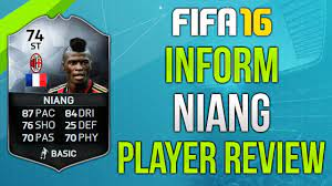 FIFA 16 IF Niang Review (74) Fifa 16 Ultimate Team Player Review! - YouTube