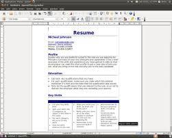 resume wizard resume badak resume template openoffice