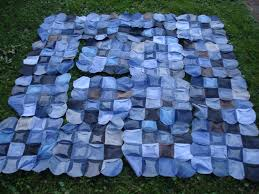 denim circle quilt | April Sewing Journal & denim circle quilt Adamdwight.com