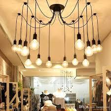 diy ceiling light fixtures 6 8 vintage bulbs spider pendant lamp home ceiling light fixtures chandeliers