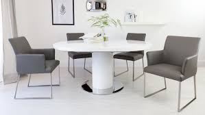 round dining room table for 8 elegant ideas grey glass white high gloss dining table and