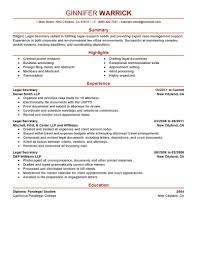 Best Legal Secretary Resume Example Livecareer How To Write A For