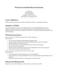 Film Production Resume Template Beauteous Film Production Resume Template Collection Of Solutions Film