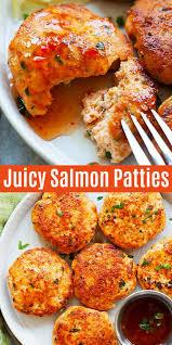 salmon patties with fresh salmon