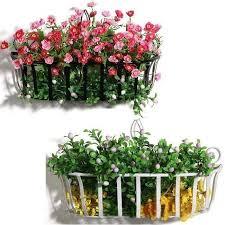 continental iron flower baskets hanging basket pots flowerpot shelf home decoration wall plants shelf