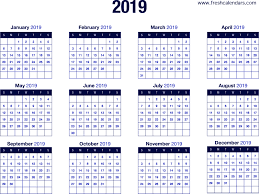 2019 Calendar Printable By Month 20 Printable 2019 Calendar Templates