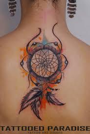 Purple Dream Catcher Tattoo Dreamcatcher tattoo watercolor love the orange and blue fade to 65