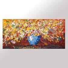 abstract art flower painting kitchen wall art large painting canvas art  on large kitchen wall art with abstract art flower painting kitchen wall art large painting