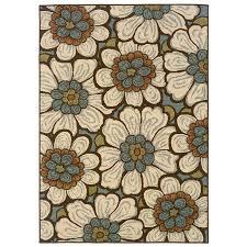 oriental weavers of america layla rectangular multicolor fl indoor outdoor woven area rug common