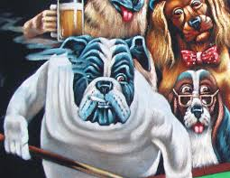 fabulous dogs playing pool smoking art coolidge mexican black velvet oil painting hj whatus it worth with pictures of dogs playing pool