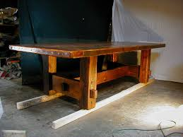 make rustic dining table