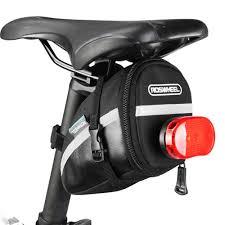 Saddle Light Bike Saddle Bag With Tail Light Holder