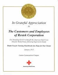 awards honors restek com red cross award