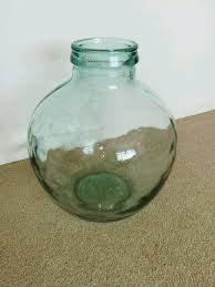 large round glass floor vase wedding sweet jar