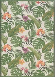 couristan dolce area rug ivory hunter green tropical outdoor rugs by veloxmart llc