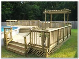 Pool Decks For Above Ground Pools Pictures Decks Home Decorating