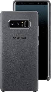 samsung note 8 case. front and back view of the galaxy note8 in alcantara cover dark gray samsung note 8 case