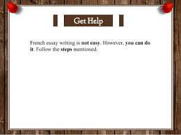 how to write french essay french essay writing