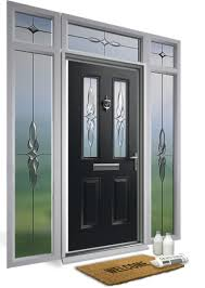 composite doors with matching decorative glass side lights and top lights