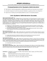 System Administrator Experience Resume Format Sean White System