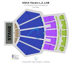 Nokia Live Seating Chart Nokia Theatre