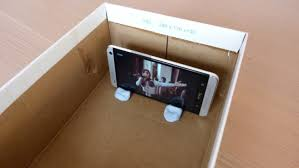 build a smartphone projector from an old shoebox muo diy smartphoneprojector stand
