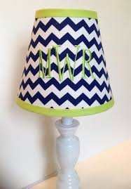 lime green lamp shade monogrammed lamp shade in navy blue chevron with lime green accent on lime green lamp