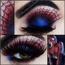 this is beyond spiderman inspired eyeshadow you know exactly what this is supposed to be