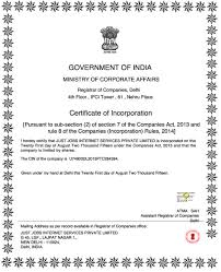 registration note just jobs the company was incorporated on 21 2014 under the companies act 2013 as just jobs internet services private limited starting products and