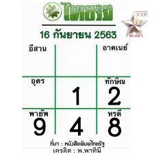 หวยไทยรัฐ 16/9/63 หมอไก่ให้ แนวทางเลขเด่น งวดนี้ล่าสุด - เลขเด็ดออนไลน์