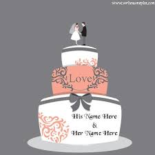 Wedding Anniversary Cake With Name Writenamepics Medium