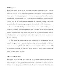 Stock Futures Quotes Classy Efficiency Of SingleStock Futures An Intraday Analysisdoc