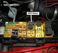 2000 jeep wrangler asd relay not activating