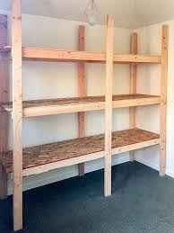 empty shed shelving unit