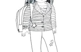 Unique American Doll Coloring Pages And Coloring Pages Of Girl Dolls