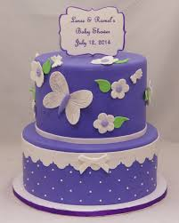Lavender White Butterfly Baby Shower Cake Cake In Cup Ny