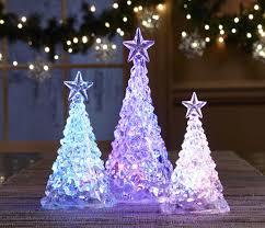Led Light Up Christmas Tree Home Garden Mini Usb Mutil Color Changing Christmas Tree