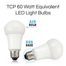 Tcp La927knd6 Led Light Bulbs 60 Watt Equivalent Energy Efficient 9w Non Dimmable A19 Shape E26 Medium Base 6 Pack Soft White 6 Lamps