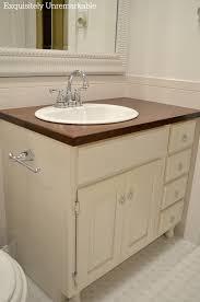 updating an old bathroom vanity