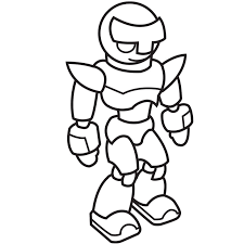 Small Picture Printable Robot Head Coloring Coloring Pages