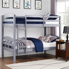 all wood bunk beds better homes and gardens leighton twin over twin wood bunk bed