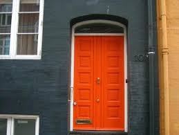 Orange front door Paint Colors Ten Best Front Door Lamaisongourmetnet Orange Front Door Orange Front Door Best Orange Front Door Colors