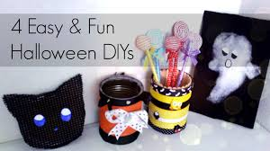 4 easy and cute halloween diys room desk decors youtube