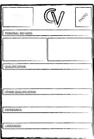 Ms Word Resume Templates Free Download Curriculum Vitae Document