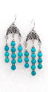 05 11 150 turquoise chandelier earrings
