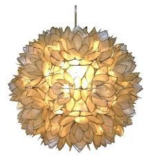 hanging shell chandelier target capiz shell pendant chandelier