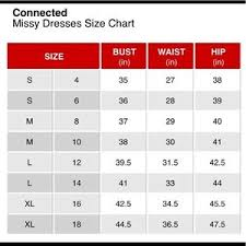Connected Apparel Size Chart Connected Apparel Sheath Dress Nwt