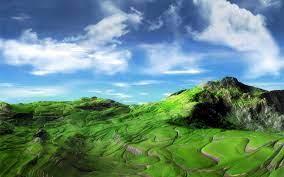 green mountains wallpaper - HD Wallpaper